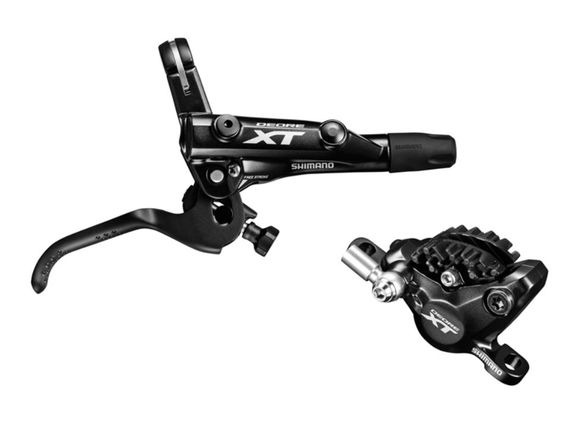 Shimano BR-M8000 XT bled I-spec-II compatible brake lever and calliper click to zoom image