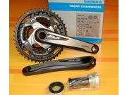Shimano SLX Triple 10 Speed Chainset 42/32/24t Including Bottom Bracket FC-M670 click to zoom image