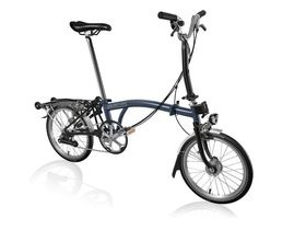 Brompton M6R Tempest Blue/Black with Shimano Dynamo