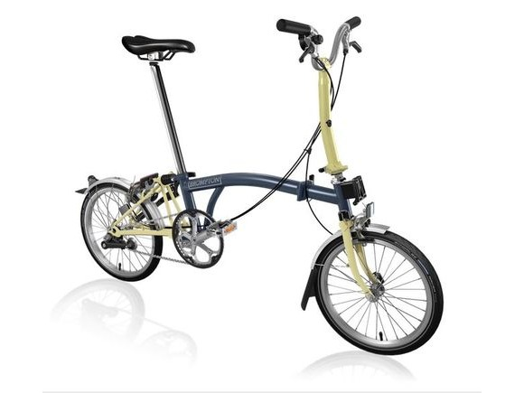 Brompton M3L Tempest Blue/Ivory click to zoom image