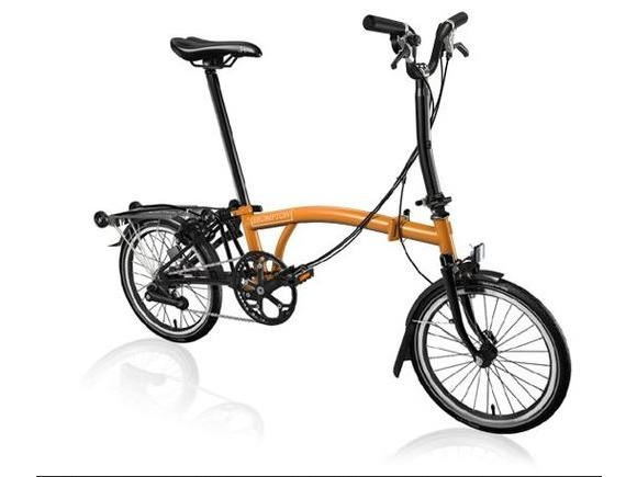 Brompton Black Edition M6R Gloss Orange/Black click to zoom image
