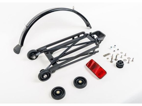 Brompton Black Rack set complete incl 4 rollers + mudguard click to zoom image